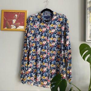 Zara Floral Button Up Shirt